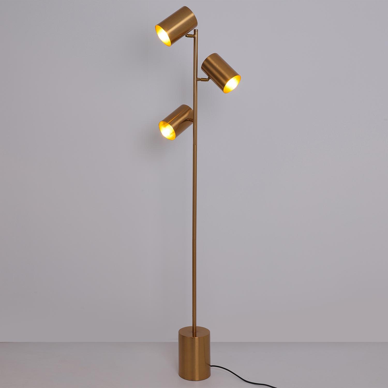 Trianon Stehlampe aus gebürstetem Metall Gold