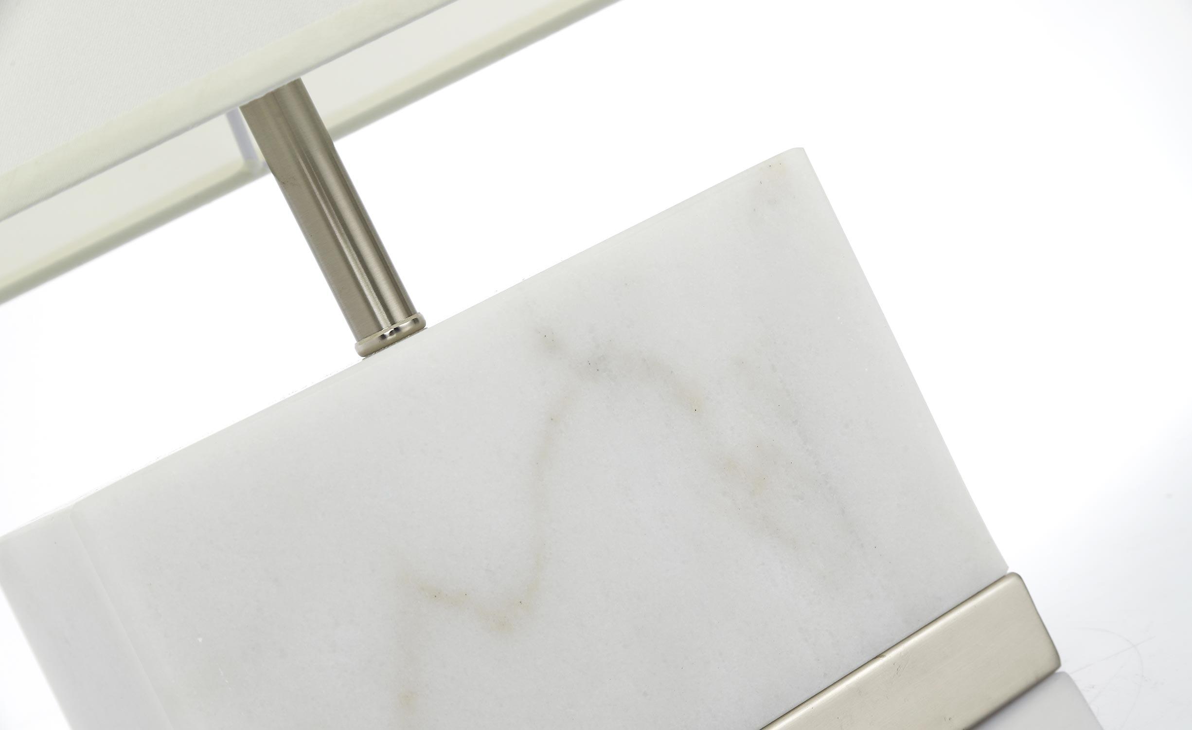 Elgira Tischlampe aus weißem Marmor