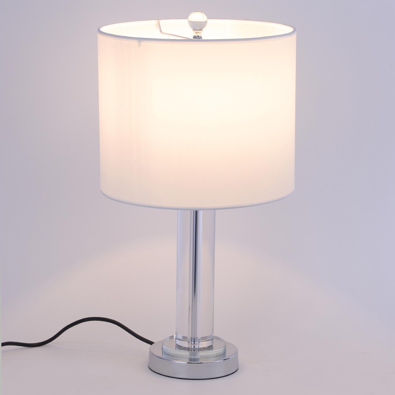 Lampe de table Giulia Blanc et Verre Transparent