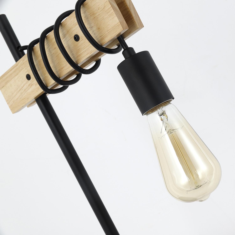 Hyara Tischlampe Holz & Schwarz