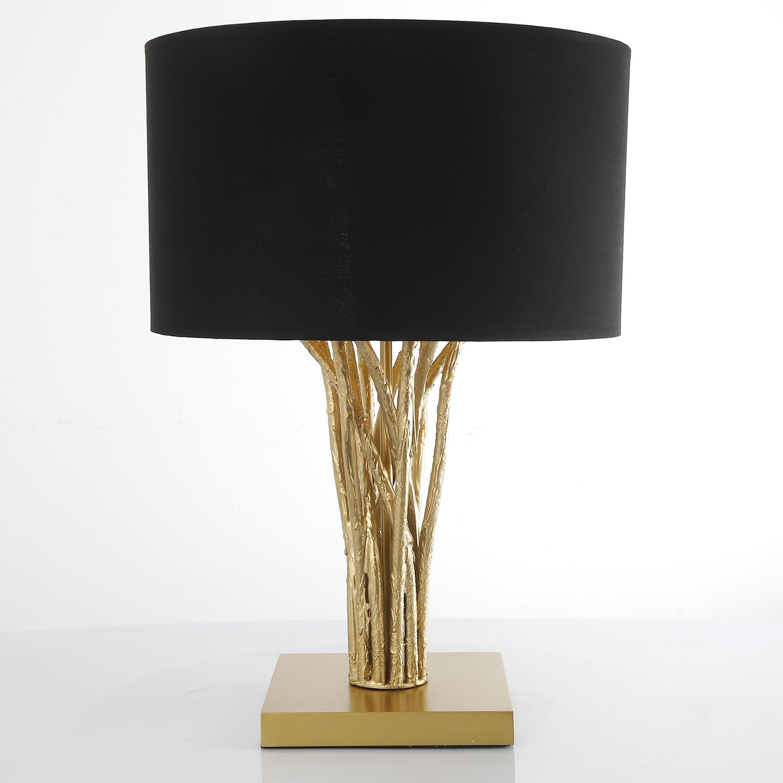 Lampe de table Naturane Noir et Métal Or