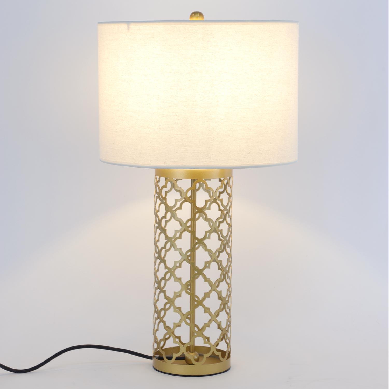 Tunis Tischlampe aus Metall Gold