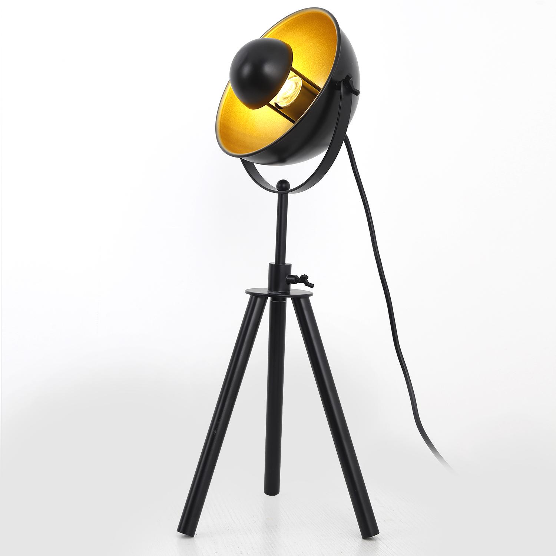 Lampe de table cinéma Loxias Noir et Or