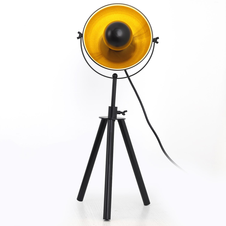 Loxias Tischlampe Schwarz & Gold