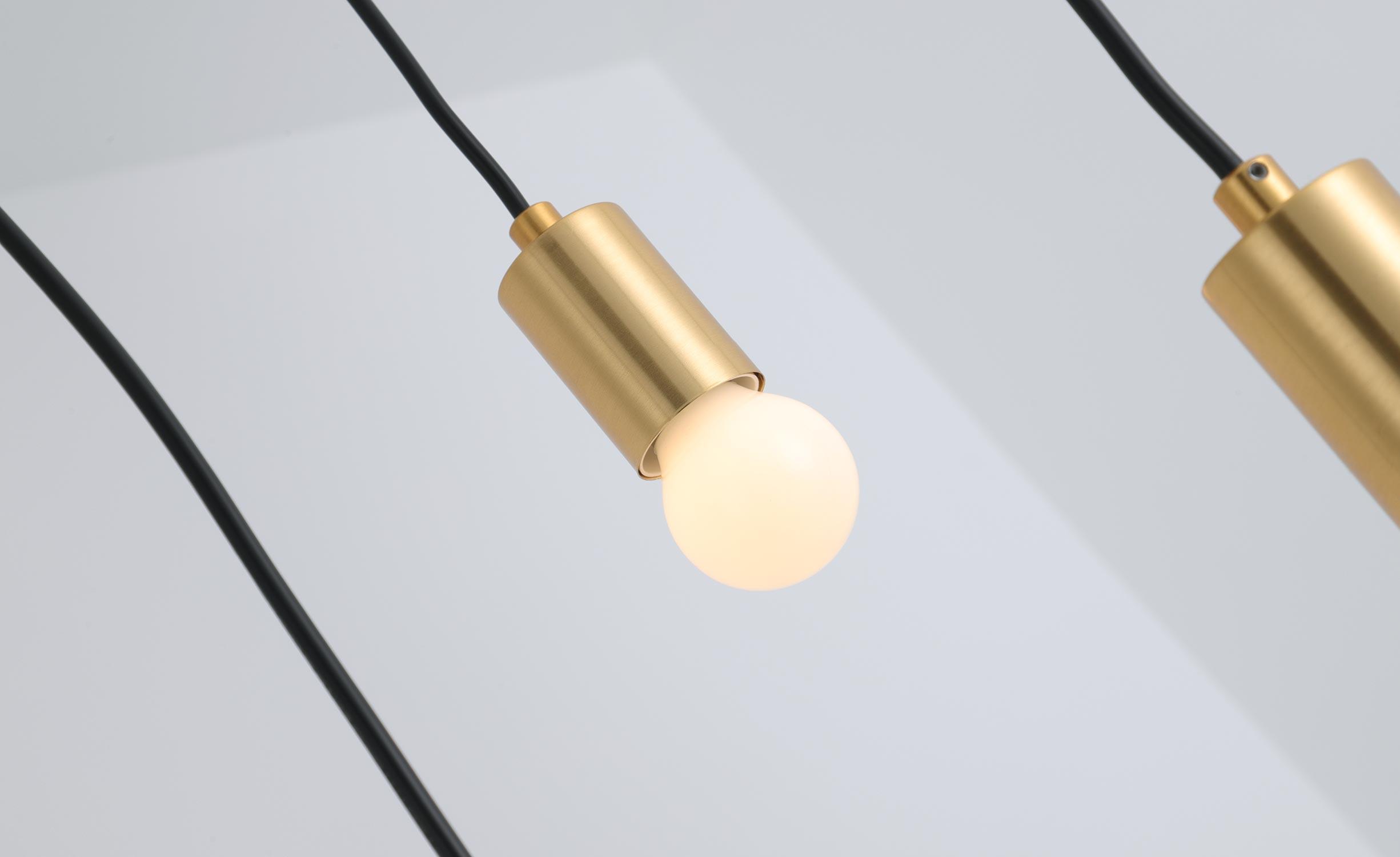 Triplado Deckenleuchte aus Metall Gold