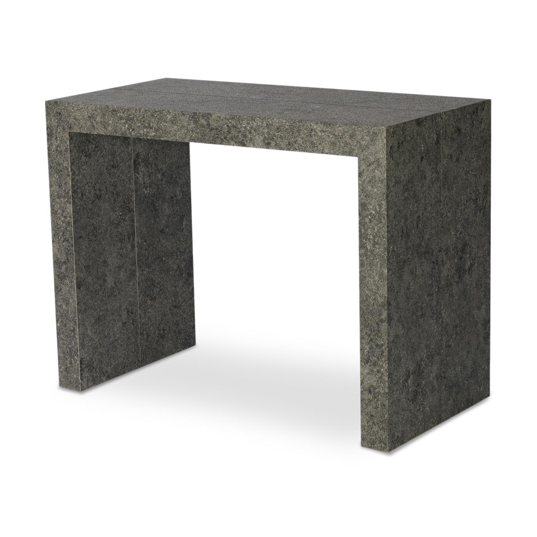 Table Console extensible Nassau XL Effet Béton gris