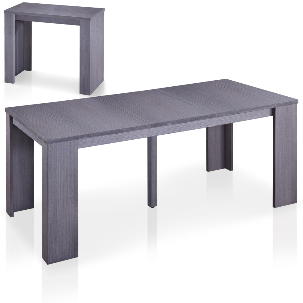 Table-console extensible contemporaine de 40 à 190cm de longueur Brookline coloris bois vintage