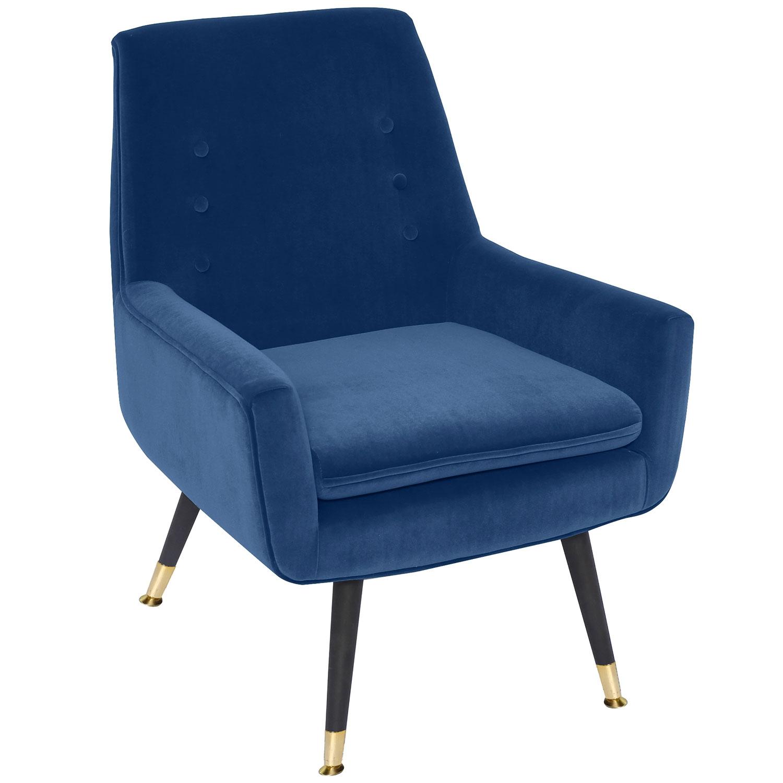 Ava Sessel mit Samtbezug Blau