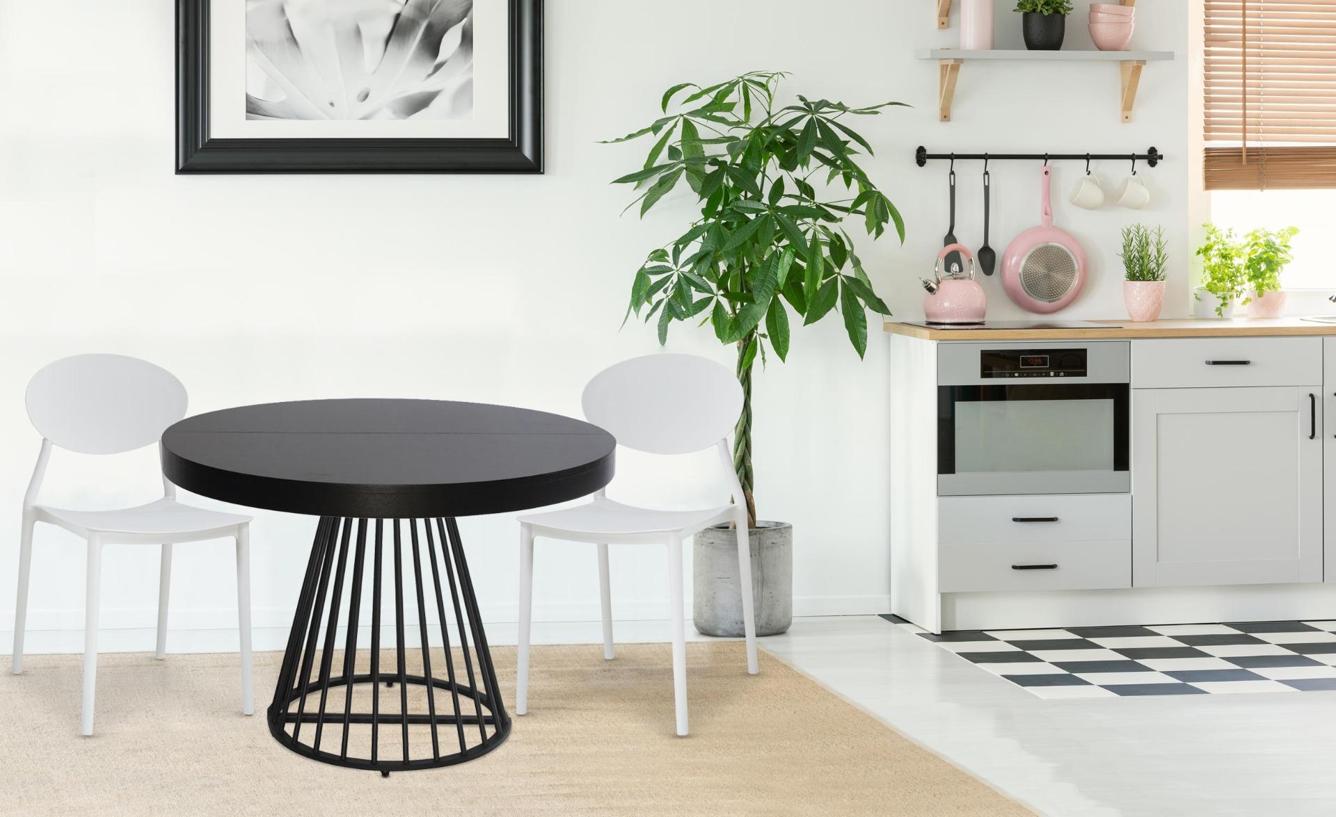 Balagan Set mit 4 stapelbaren Stühlen Weiß