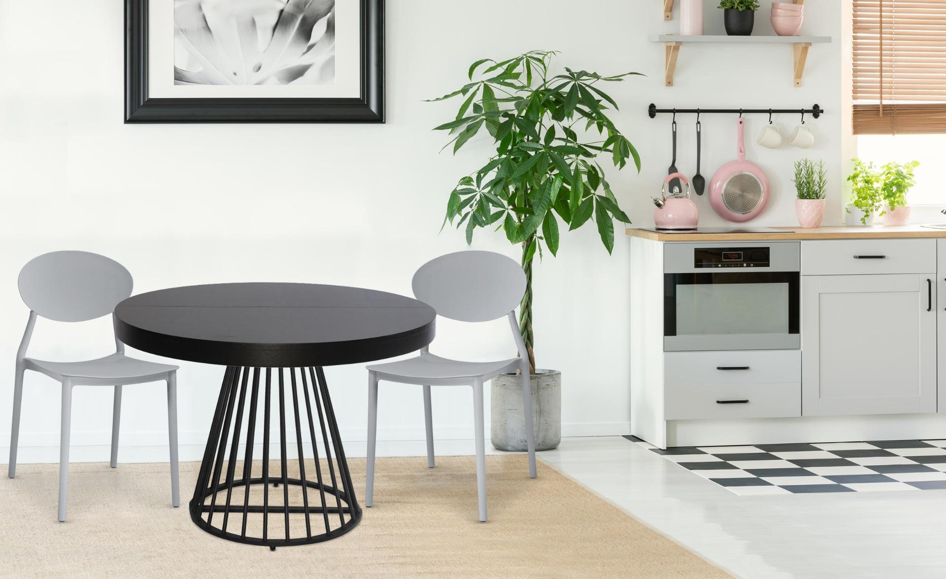 Balagan Set mit 4 stapelbaren Stühlen Grau