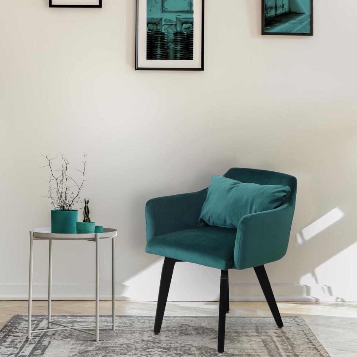 Gybson Set mit 20 Sesseln im skandinavischen Stil mit Samtbezug Grün