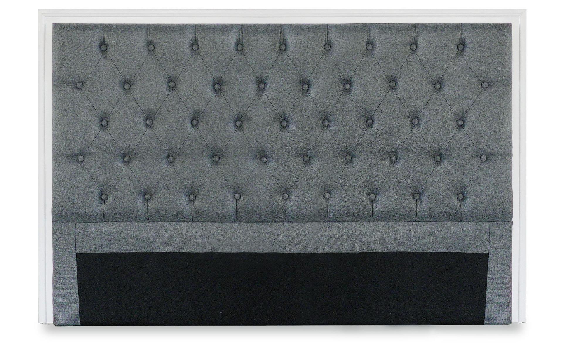 Tête de lit Hermione 160cm Tissu Gris clair