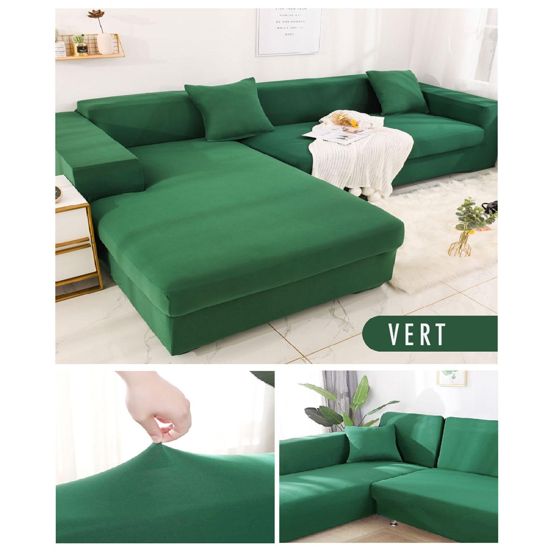 Decoprotect 2+3-Sitzer Stretch Sofabezug Grün