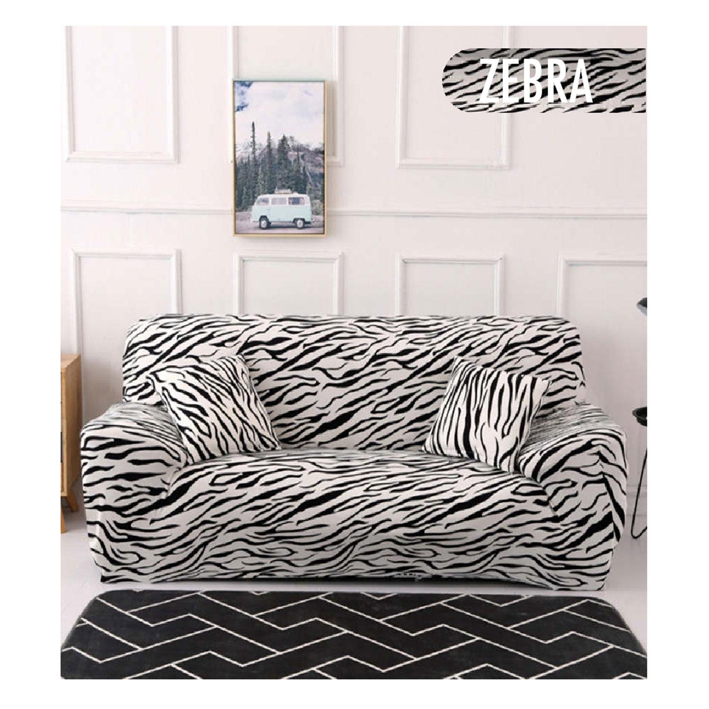 Decoprotect 2+3-Sitzer Stretch Sofabezug Zebra
