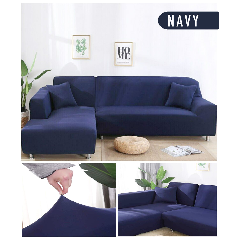 Decoprotect 2-Sitzer Stretch Sofabezug Dunkelblau