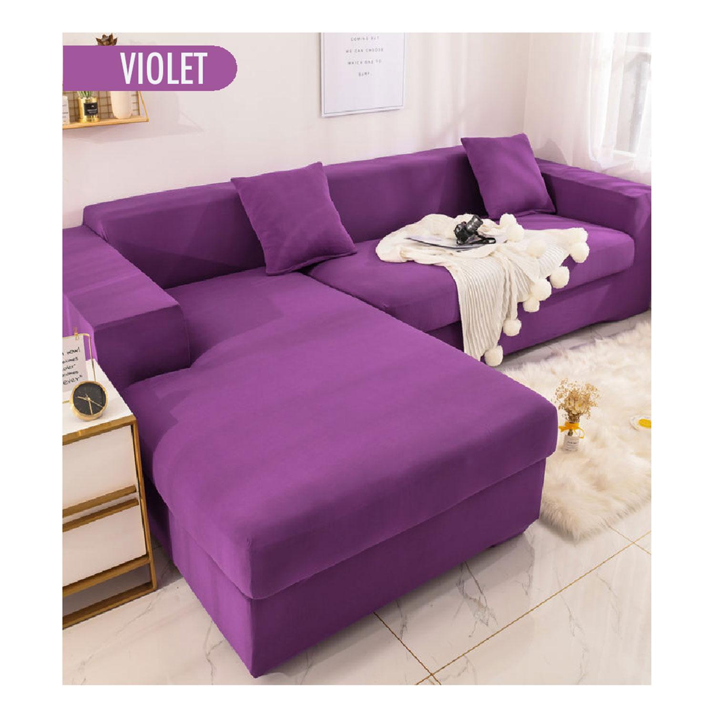 Decoprotect 2-Sitzer Stretch Sofabezug Lila