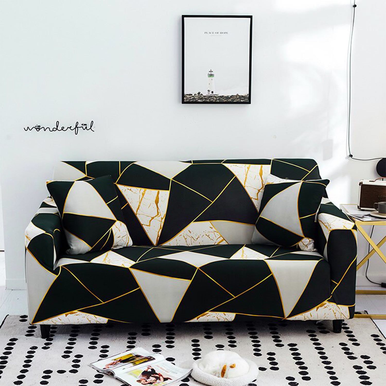 Decoprotect Geometrischer 2-Sitzer Stretch Sofabezug Epsilon