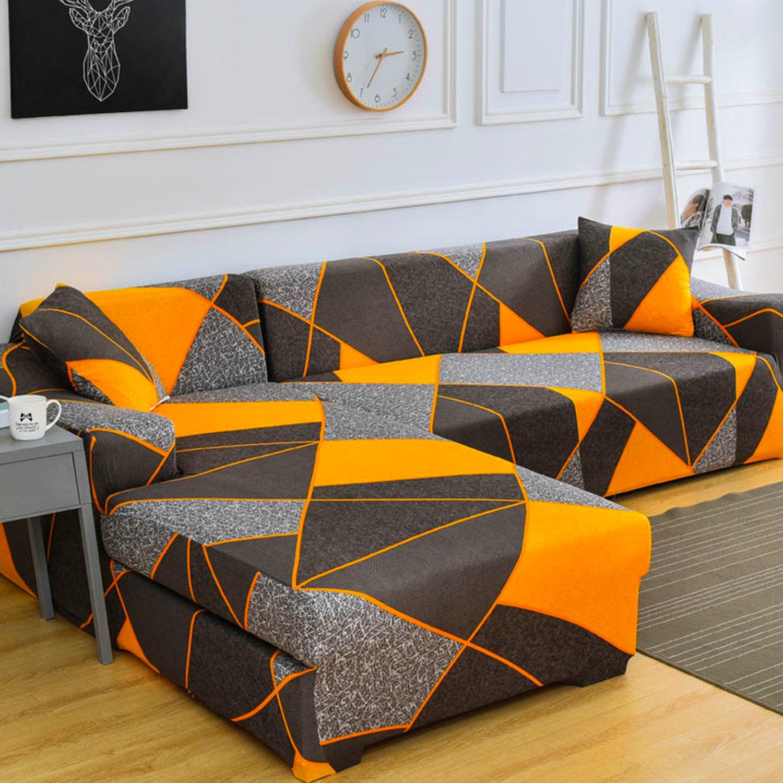 Thales Decoprotect Geometrischer 2-Sitzer Stretch-Sofabezug