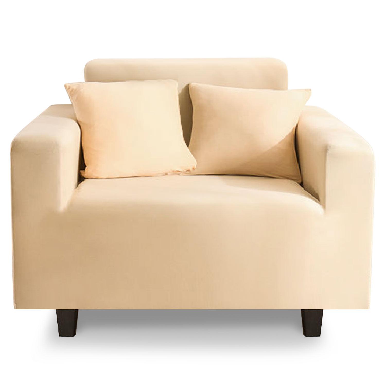 Housse de fauteuil extensible Decoprotect 1 place Ivoire