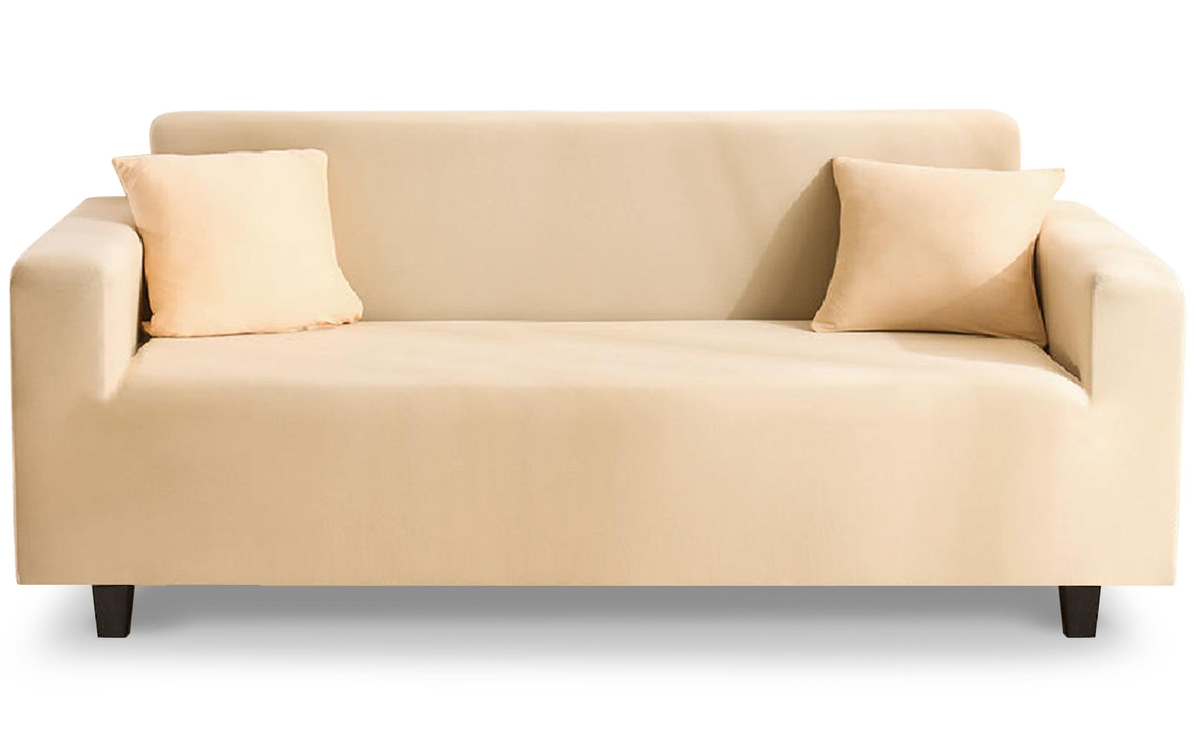 Housse de fauteuil extensible Decoprotect 3 places Ivoire