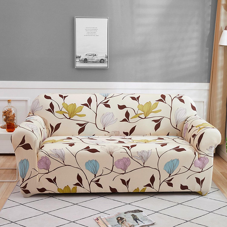 Housse de fauteuil extensible Decoprotect Fleur 1 place Sabrina