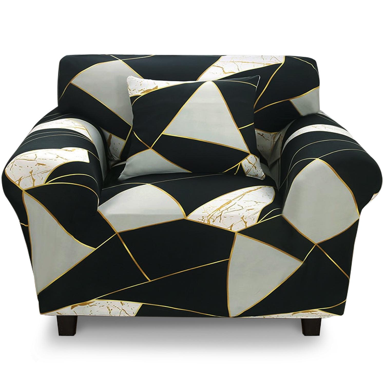 Housse de fauteuil extensible Decoprotect Géométrique 1 place Epsilon