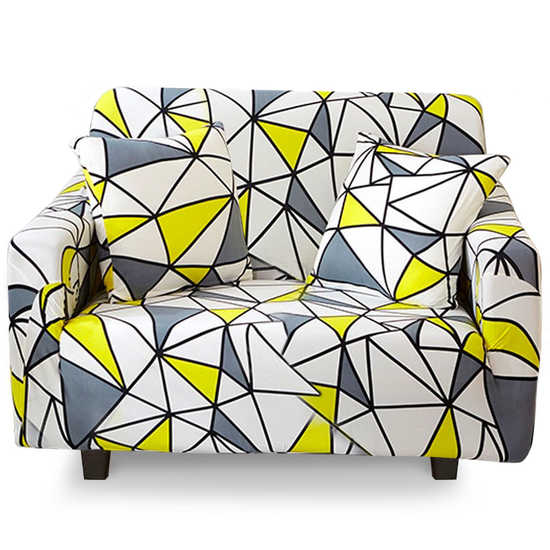 Housse de fauteuil extensible Decoprotect Géométrique 1 place Omega