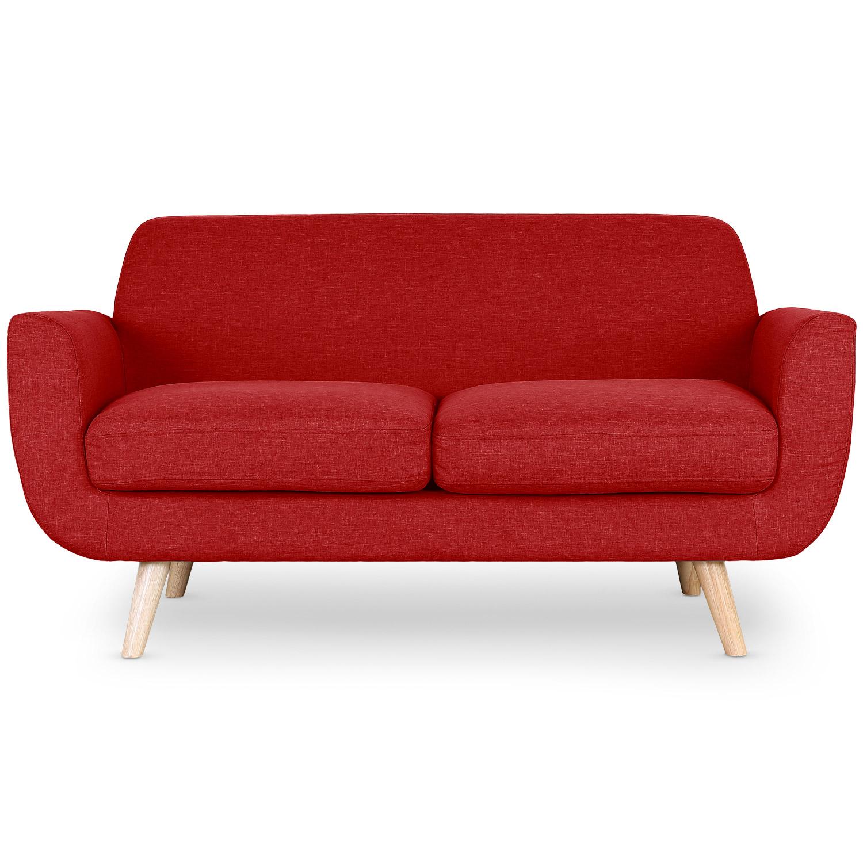 Danube Skandinavisches 2-Sitzer Sofa mit Stoffbezug Rot