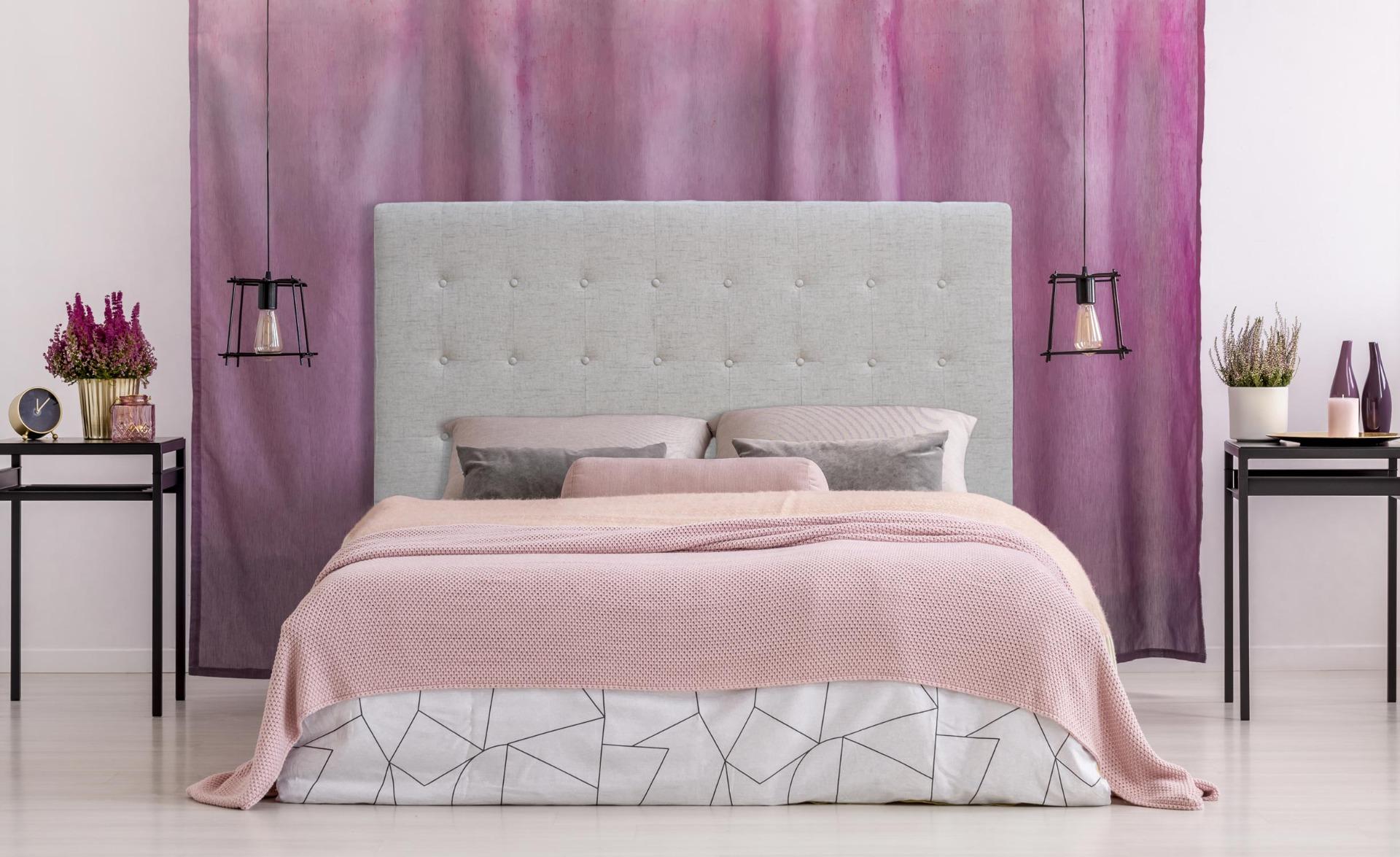 Luxor Kopfteil Bett 160cm mit Stoffbezug Beige