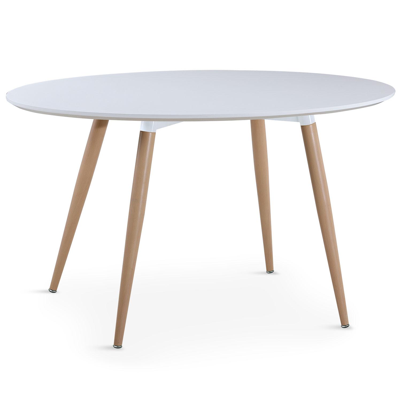 Sissi Ovaler Tisch im skandinavischen Stil Weiß