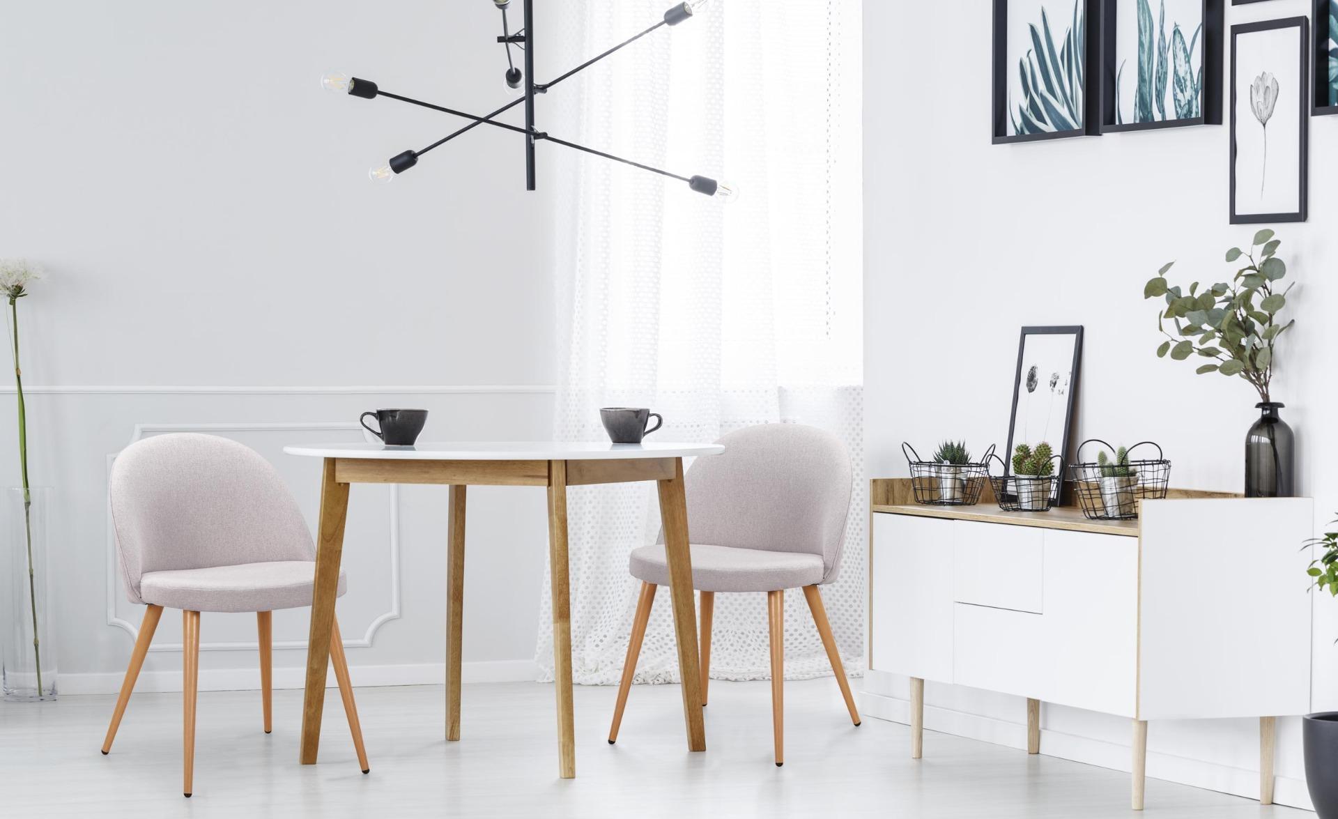 Maury Set mit 2 Stühlen, Stoffbezug Hellgrau