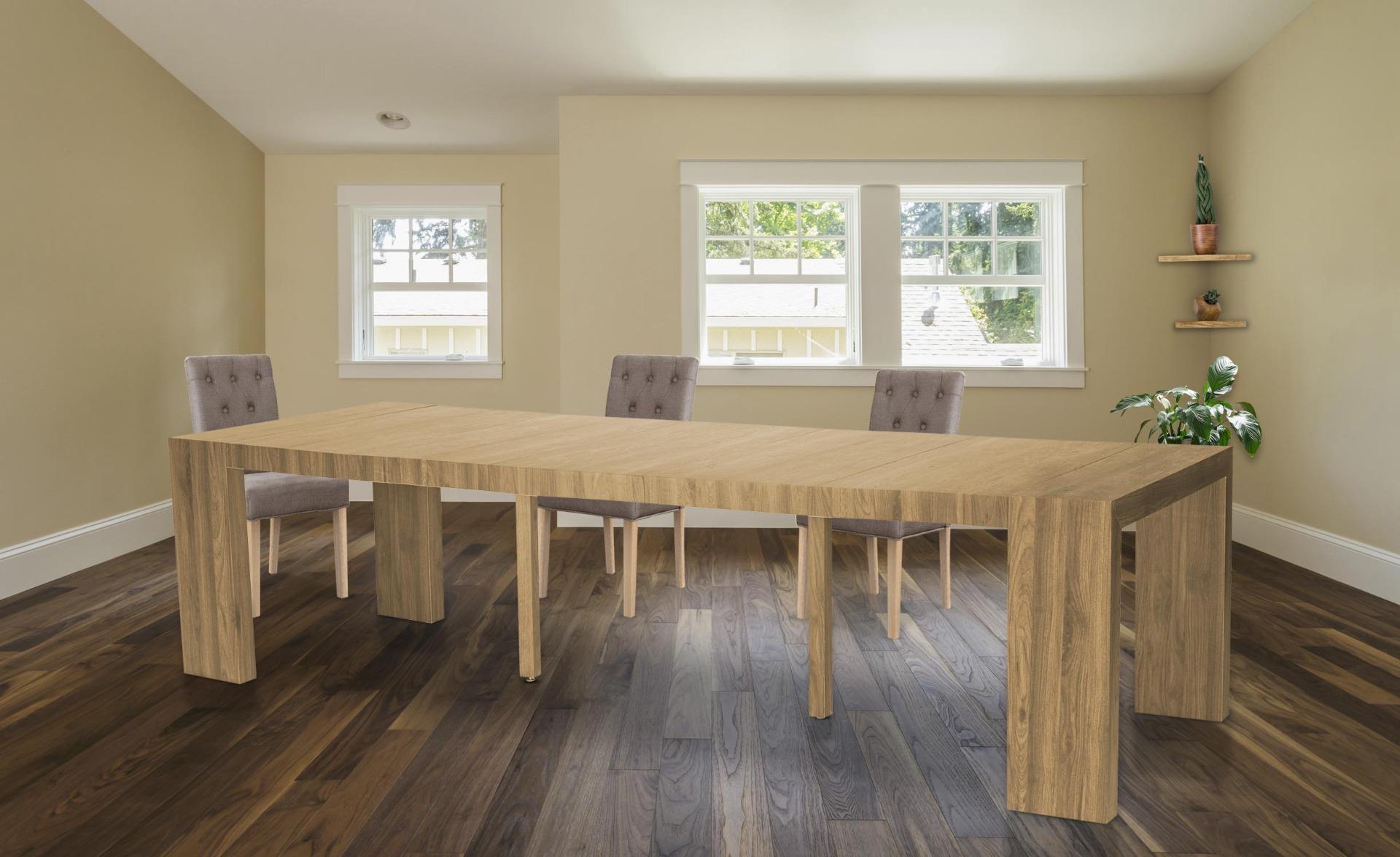 Nassau XL Ausziehbarer Konsolentisch Sonoma Holz