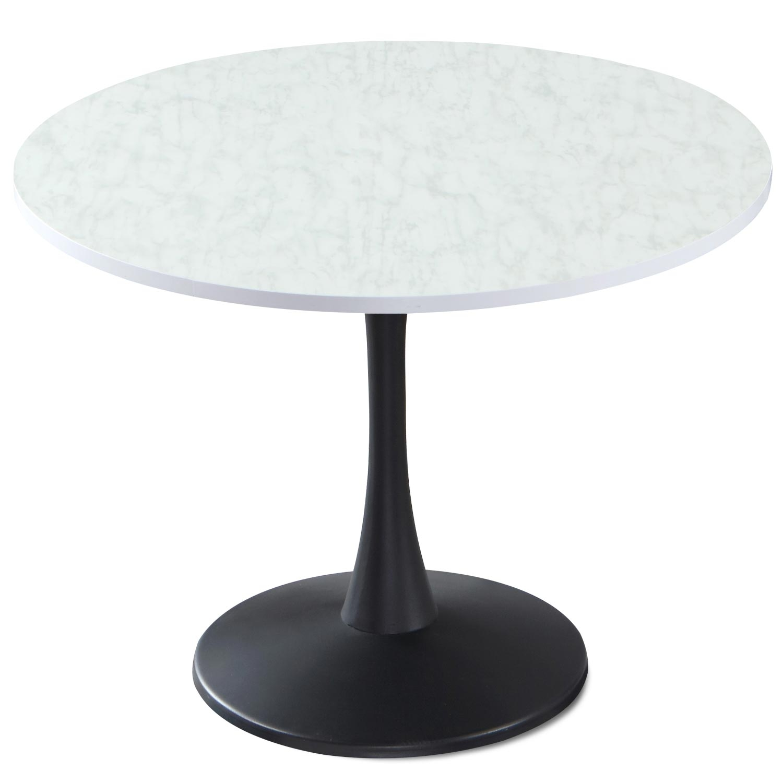 Table ronde Necy Effet Marbre Noir