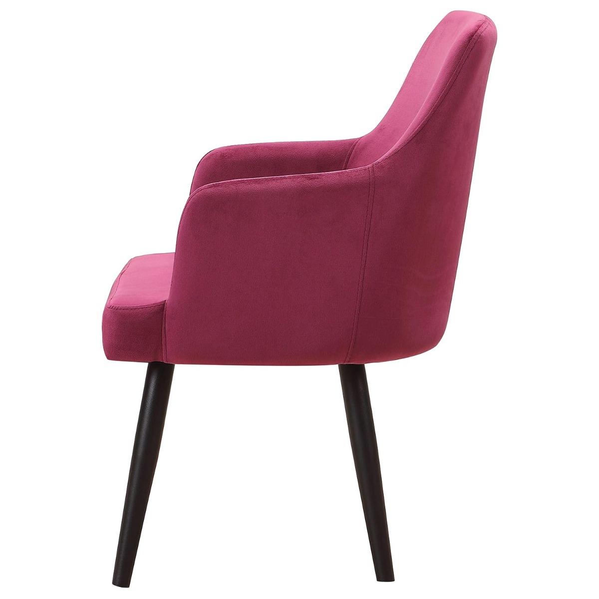Neiva Set mit 2 Sesseln, Samtbezug Rot
