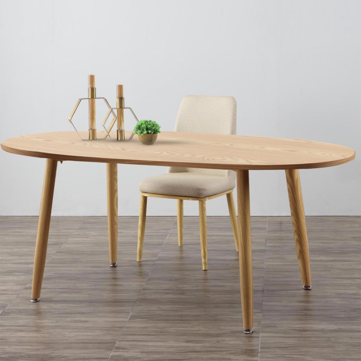 Nolane Ovaler Tisch im skandinavischen Stil Helle Eiche