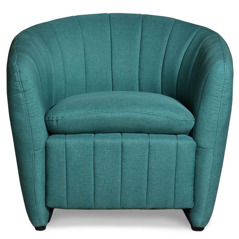 Noumea Sessel mit Stoffbezug Blau Grün