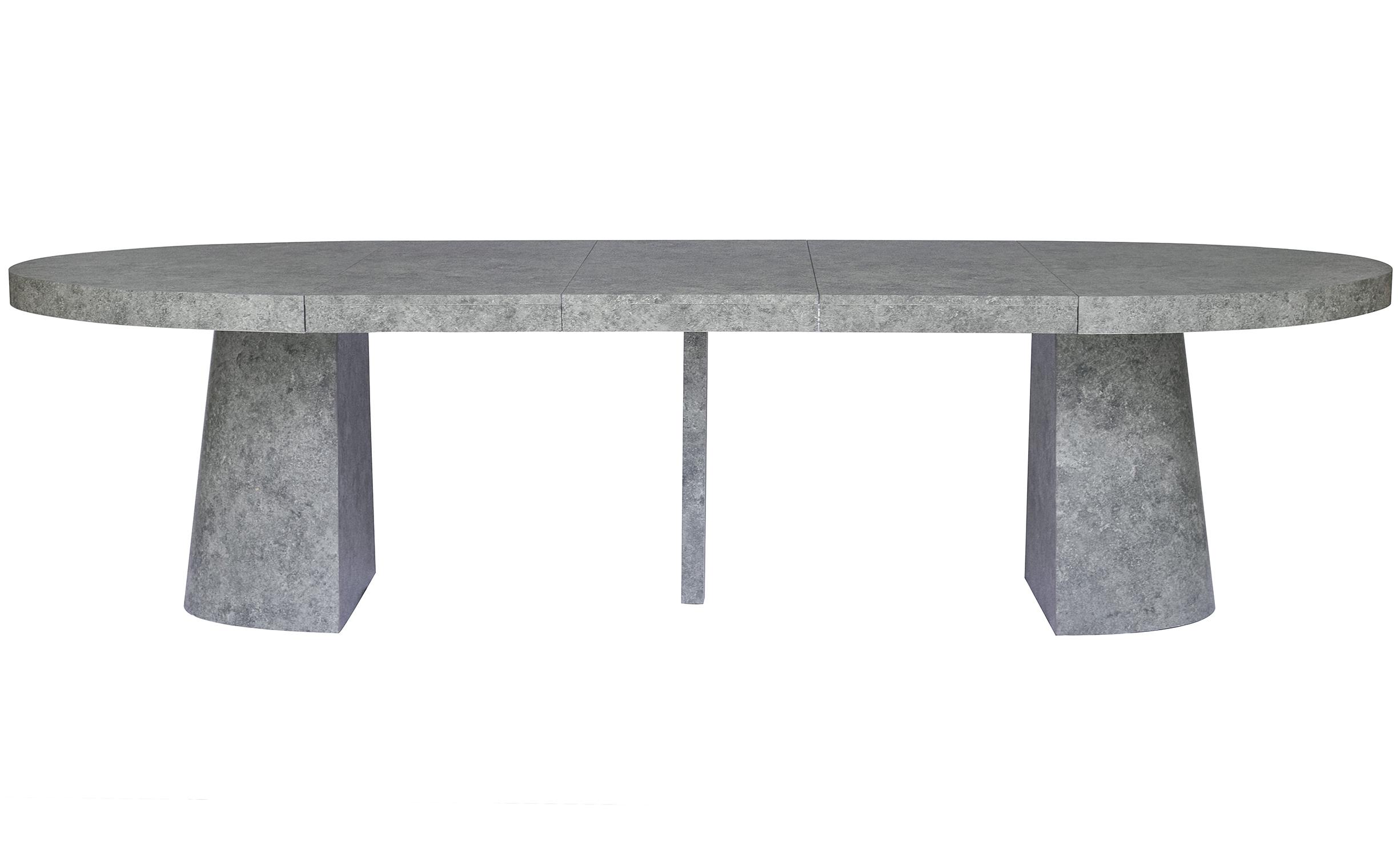 Oluze Ovaler Ausziehtisch Beton Effekt