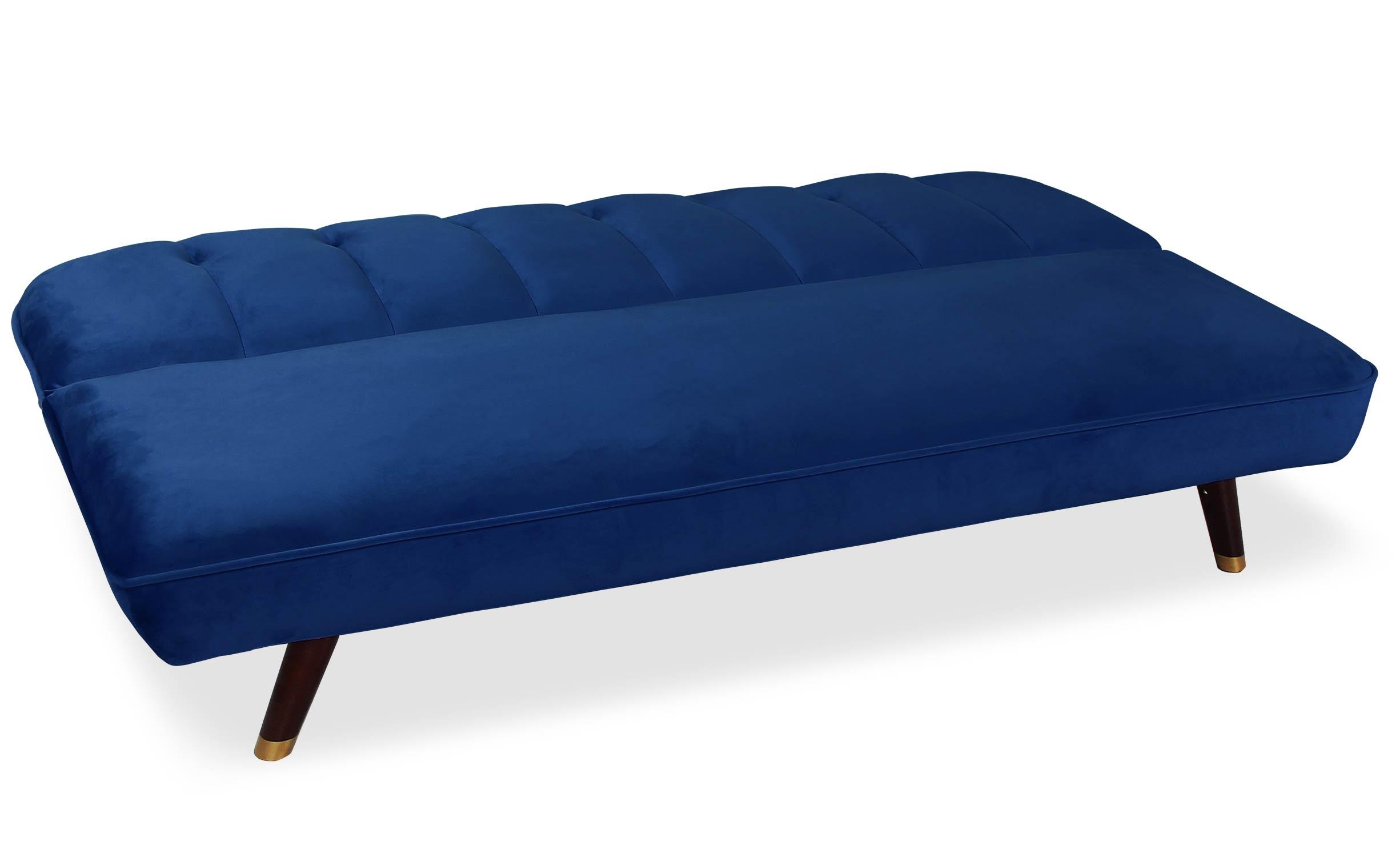 Olympia Schlafsofa mit Samtbezug Blau