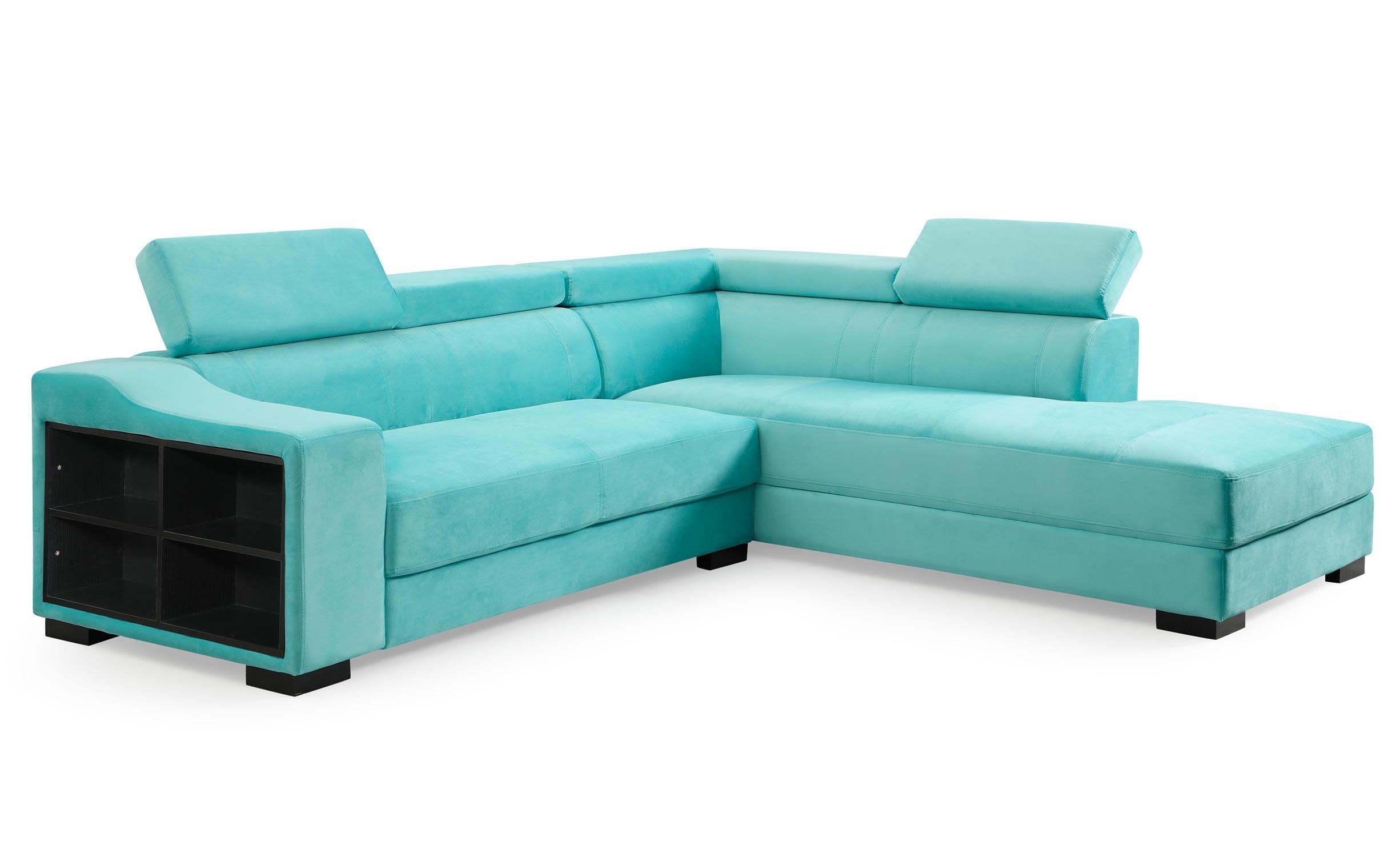 Canapé d'angle en velours Onoz Vert
