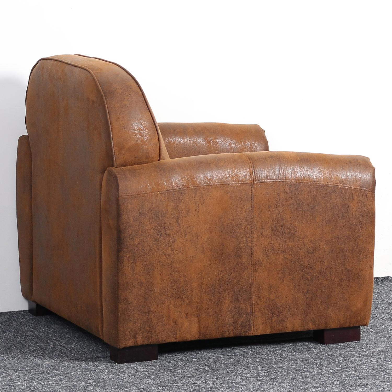 Club Perle Sessel mit Stoffbezug Vintage