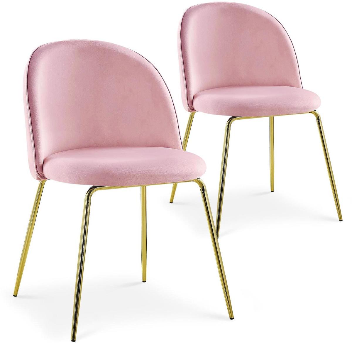 Lot de 2 chaises Spectra Velours Rose