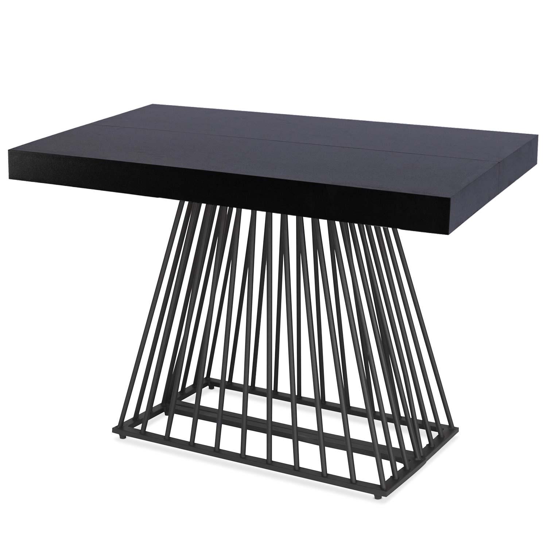 Table extensible Factory Noir pieds Noir