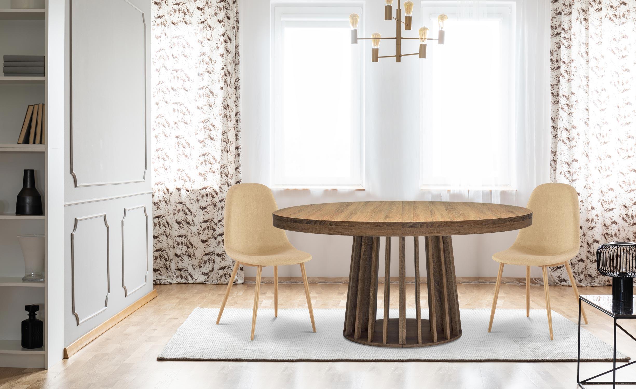 Eliza Ovaler, ausziehbarer Tisch Haselnuss