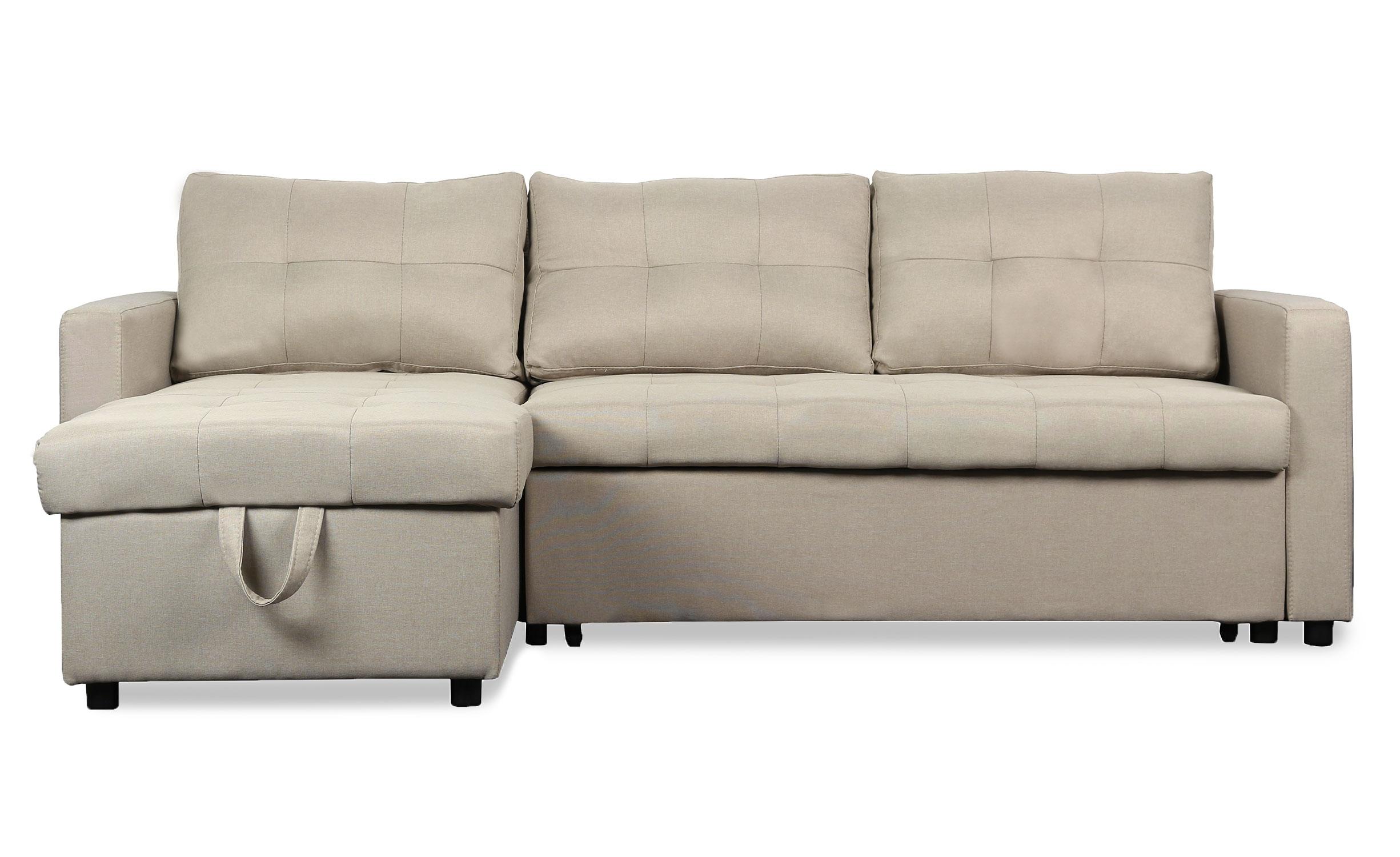 Canapé d'angle convertible Toledo Tissu Beige