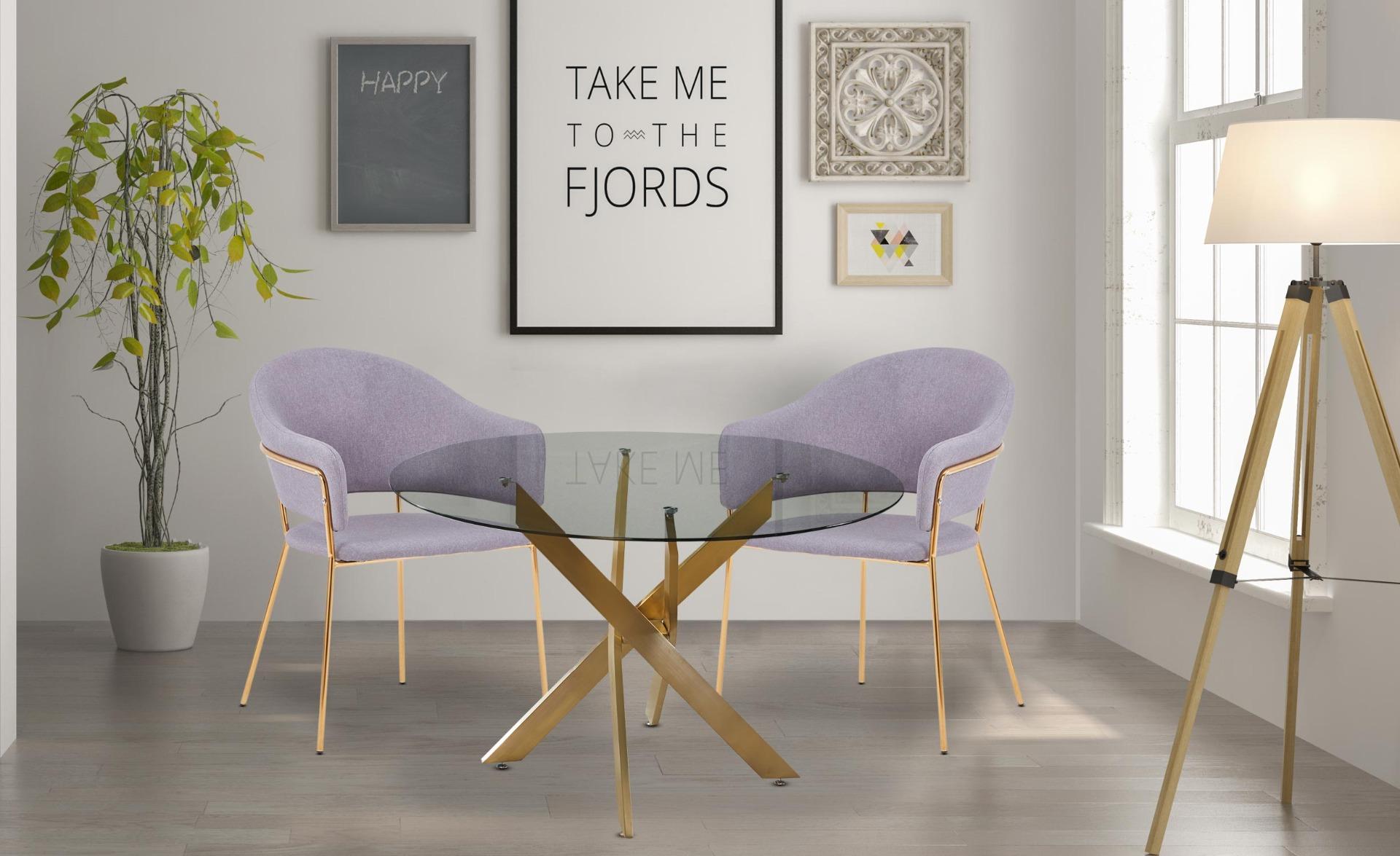 Ulrick Set mit 2 Stühlen / Sesseln, Stoffbezug Grau