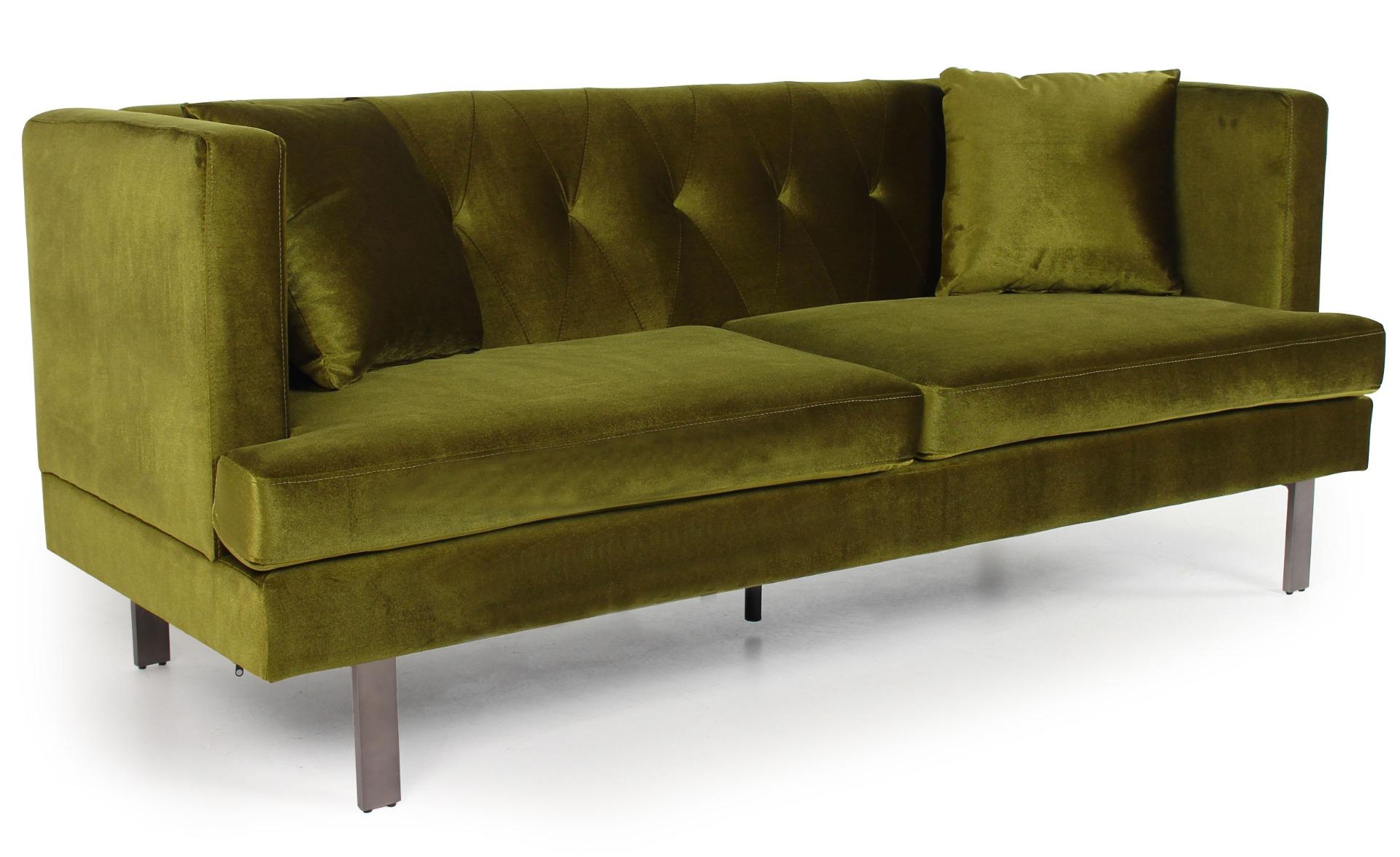 Vincennes 3-Sitzer Sofa mit Samtbezug Khaki