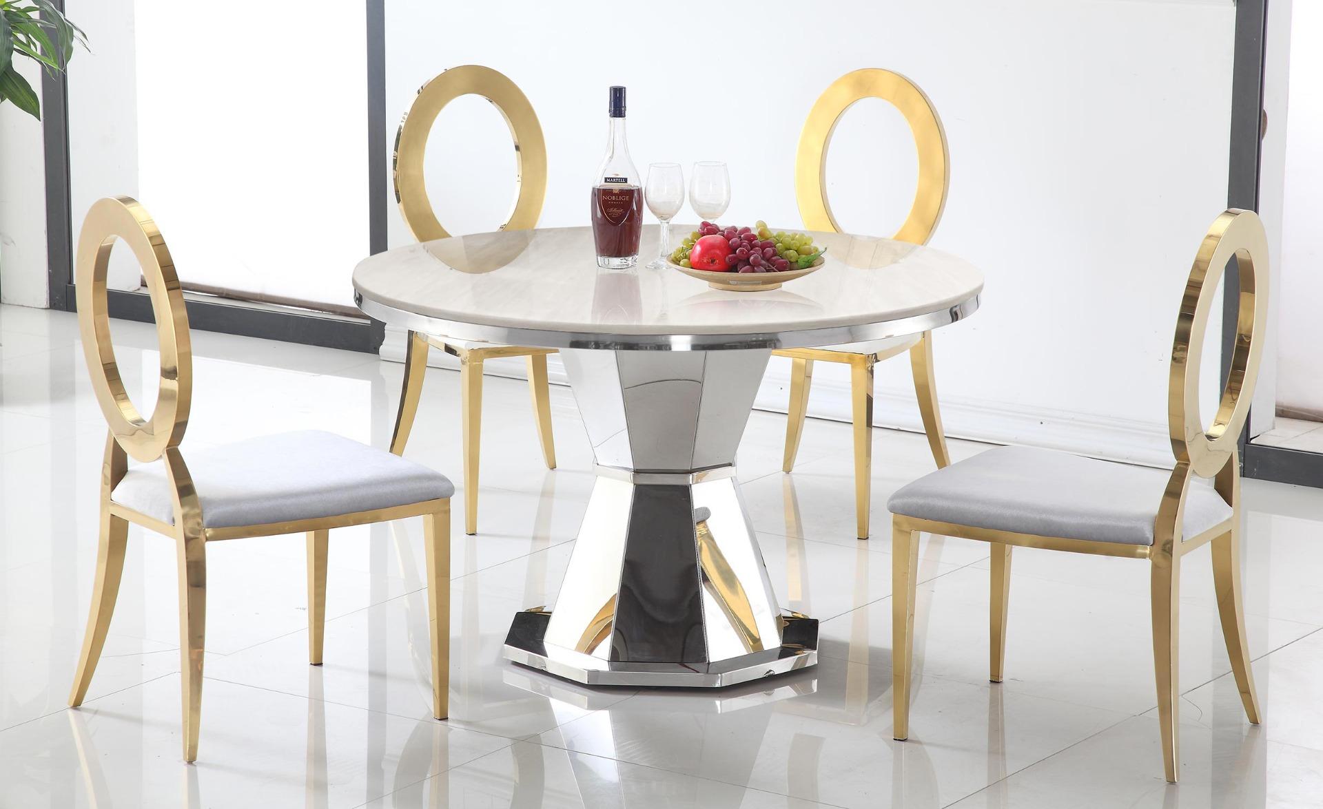 Yvone Runder Tisch aus Marmor