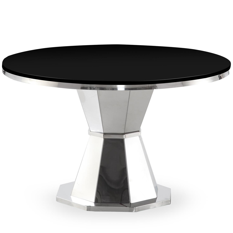 Table ronde Yvone Verre Noir
